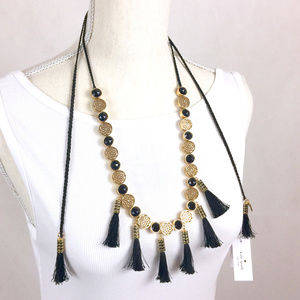 NWT✨KATE SPADE Moroccan Tile Tassel Necklace